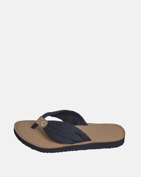 Čierne papuče Tommy Hilfiger