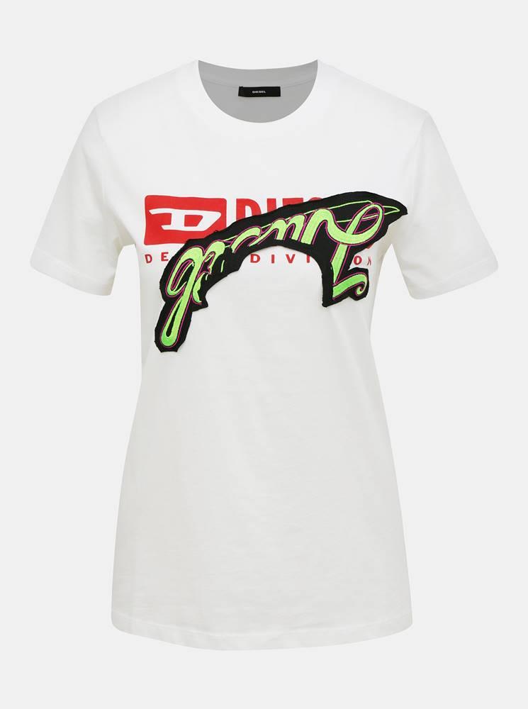 Diesel Biele dámske tričko Diesel