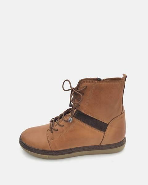 Hnedé zimná obuv wild