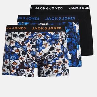 Sada troch vzorovaných boxeriek Jack & Jones Flower
