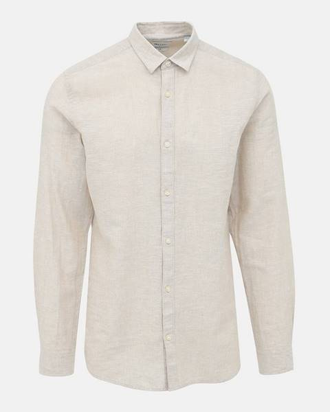 Béžová košeľa ONLY & SONS