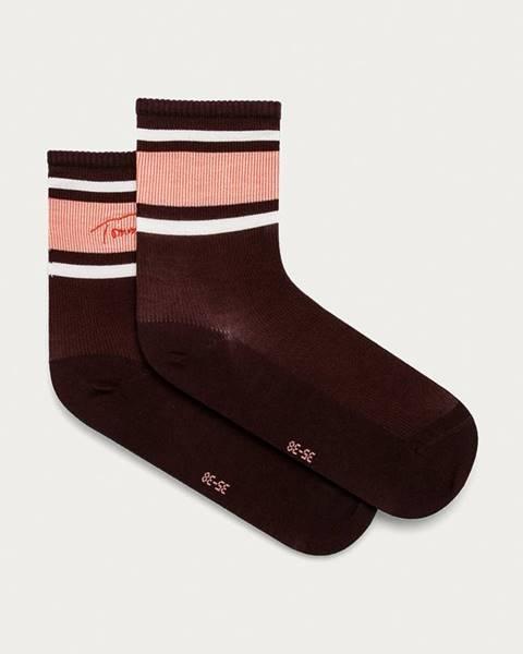 Burgundské ponožky Tommy Hilfiger