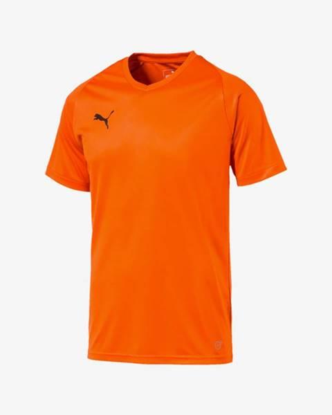 Oranžové tričko Puma