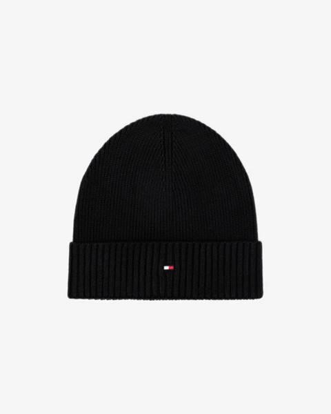 Čierna čiapka Tommy Hilfiger