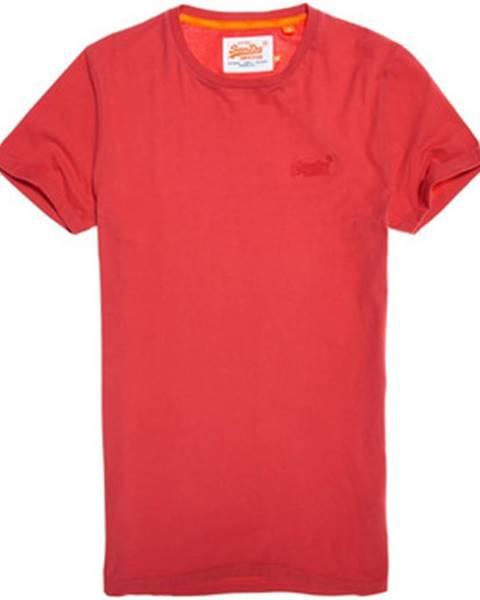 Červené tričko Superdry