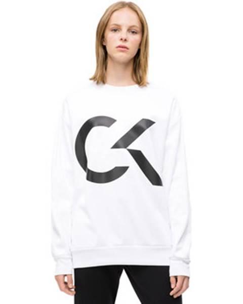 Biela mikina Calvin Klein Jeans