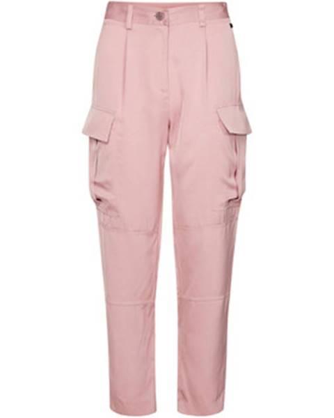 Ružové nohavice Calvin Klein Jeans