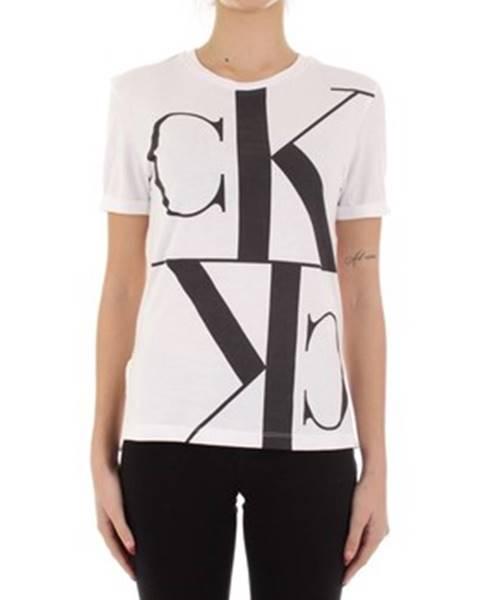 Biele tričko Calvin Klein Jeans