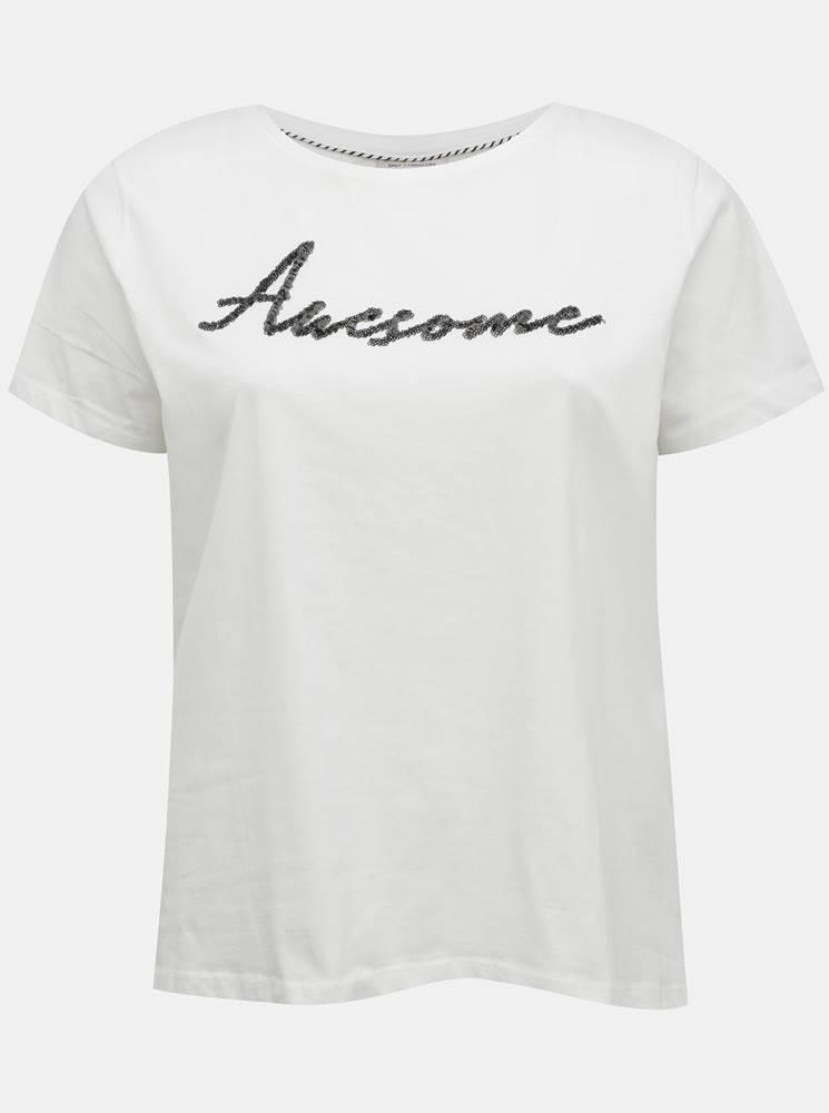 ONLY CARMAKOMA Biele tričko ONLY CARMAKOMA