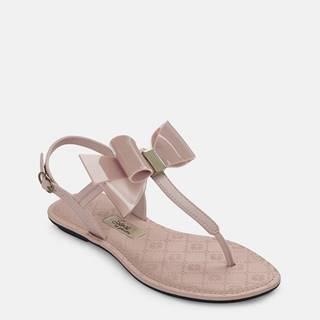Ružové sandále s mašľou Grendha