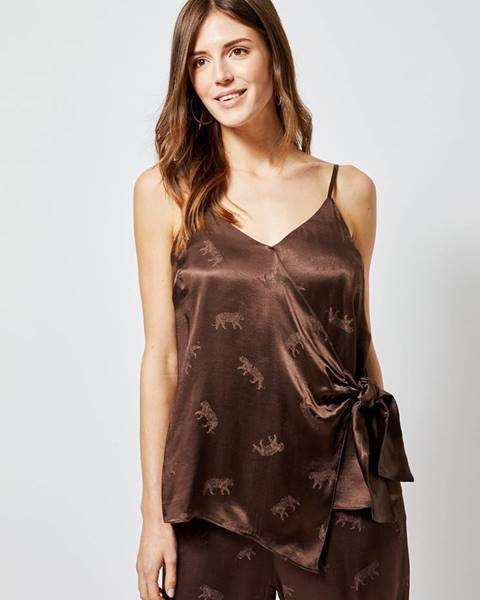 Hnedé tričko Dorothy Perkins
