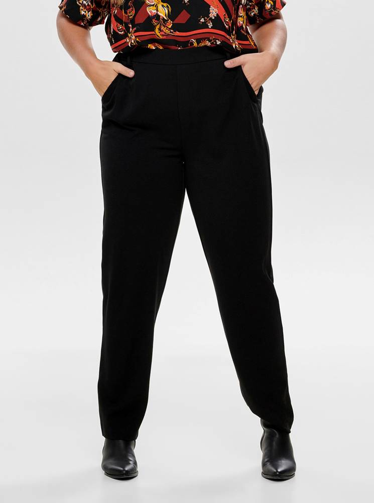 ONLY CARMAKOMA Čierne nohavice ONLY CARMAKOMA Awesome