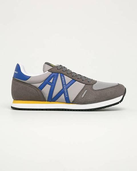 Sivé topánky Armani Exchange