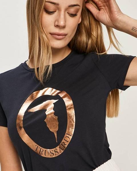 Tmavomodré tričko Trussardi Jeans