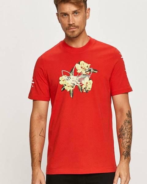 Červené tričko adidas Originals