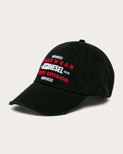 Čierna čiapka Diesel