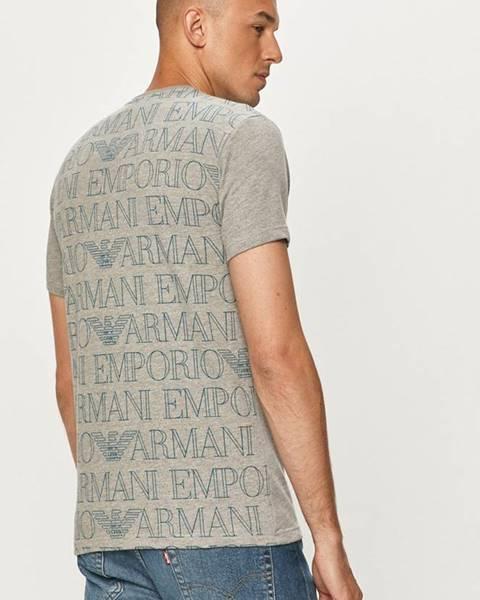 Sivé tričko Emporio Armani