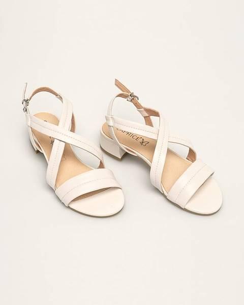 Biele sandále Caprice
