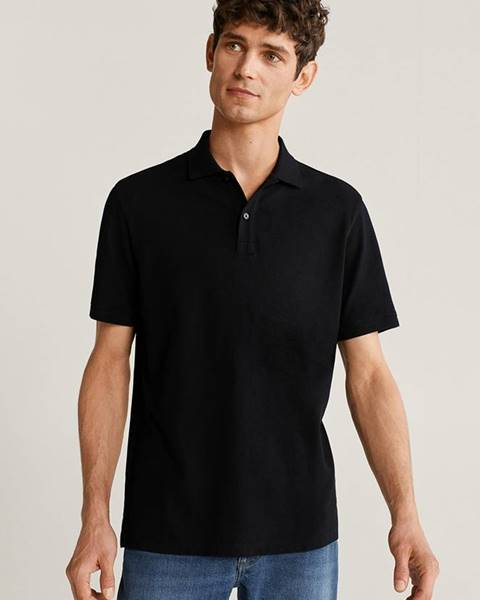 Čierne tričko Mango Man