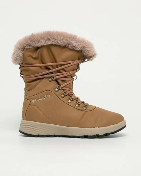 Hnedé zimná obuv Columbia
