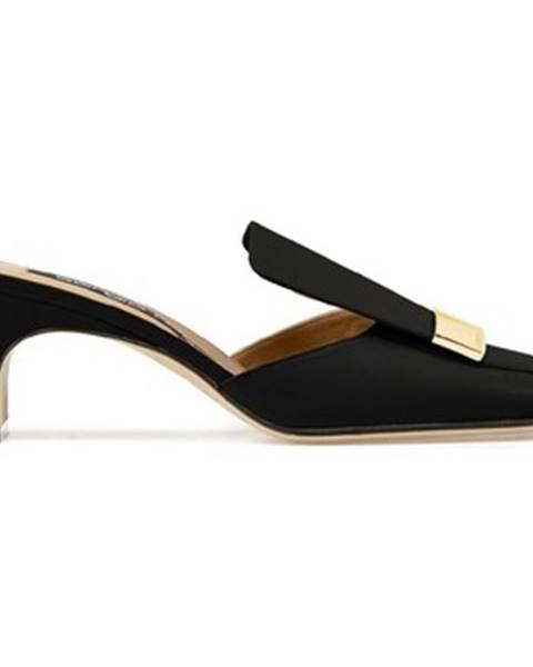 Čierne sandále Sergio Rossi