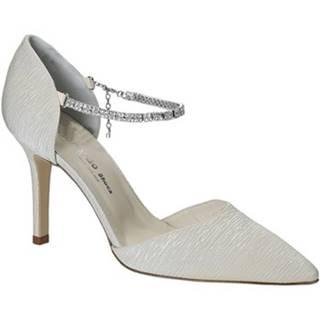 Lodičky Leonardo Shoes  S2713 PLISSE AVORIO T 2960 F DESY