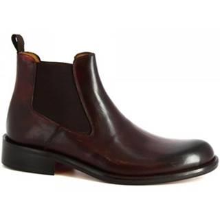 Polokozačky Leonardo Shoes  042 SIVIGLIA BORDO
