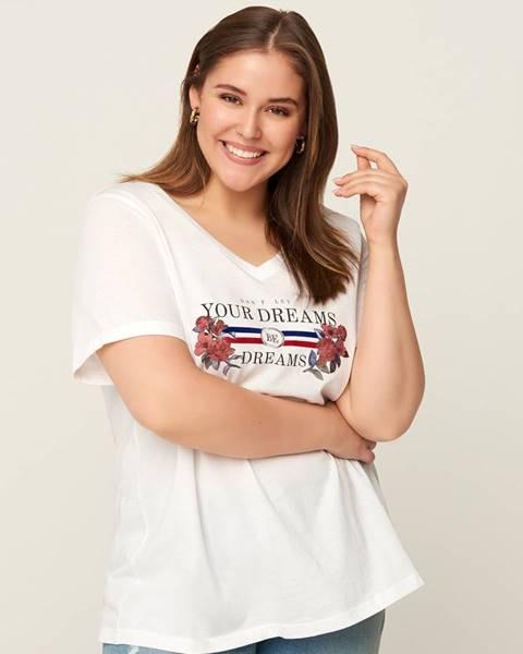 Biele tričko Zizzi