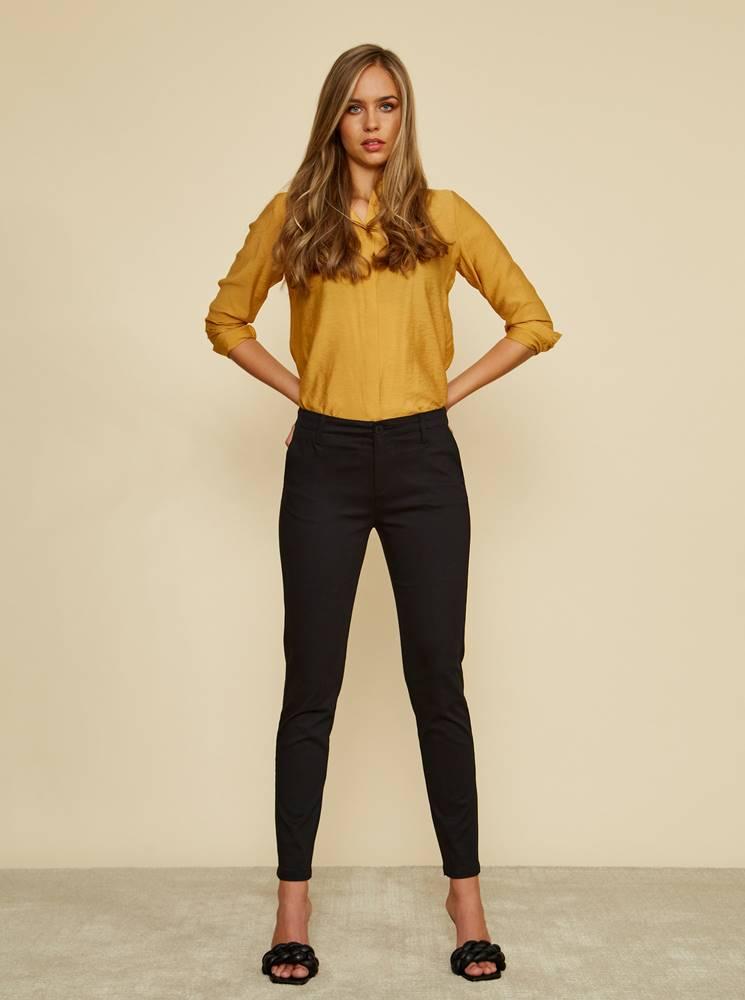 zoot baseline Čierne dámske slim fit nohavice ZOOT Baseline Heather