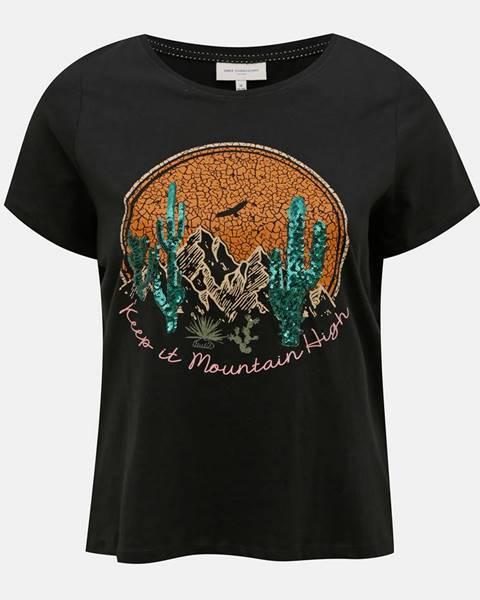 Čierne tričko ONLY CARMAKOMA