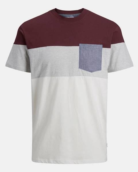 Vínové tričko Jack & Jones