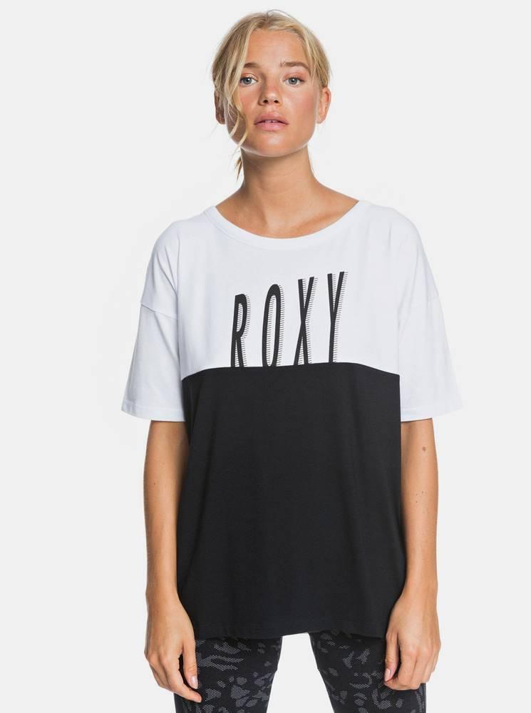 Roxy Bielo-čierne tričko Roxy