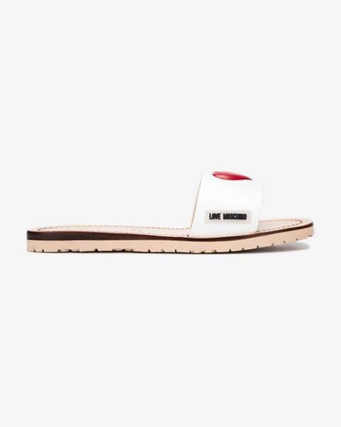 Biele sandále Love Moschino
