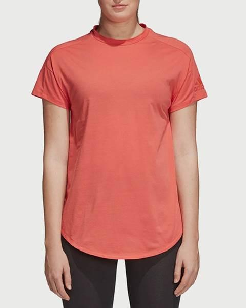 Oranžové tričko adidas Performance