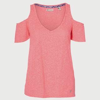 Tričko O´Neill Lw Shoudler Fun T-Shirt Růžová