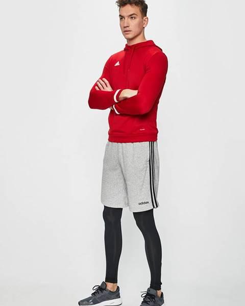 Červená bunda s kapucňou adidas Performance