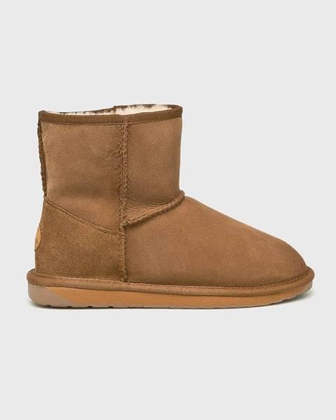 Hnedé zimná obuv Emu Australia