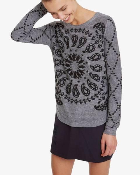 Sivý sveter Desigual