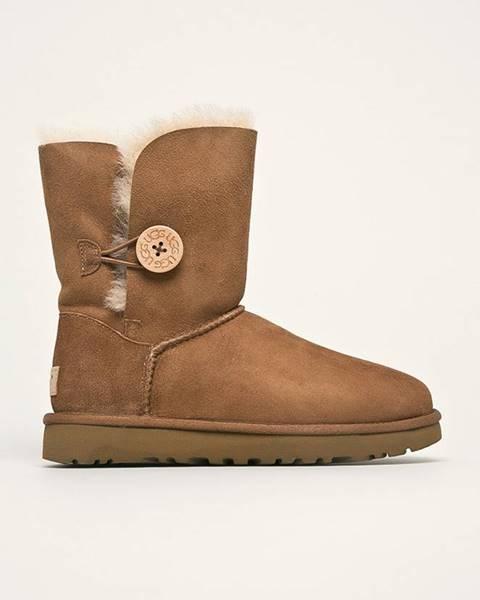 Hnedé zimná obuv UGG