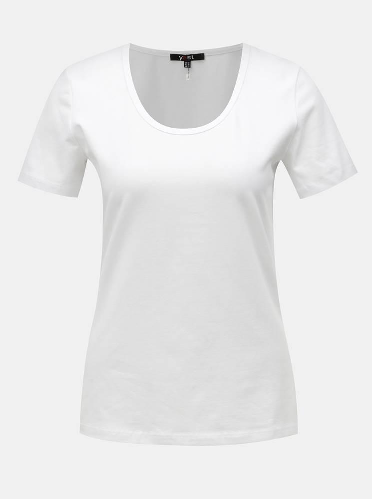 Biele basic tričko s krátky...