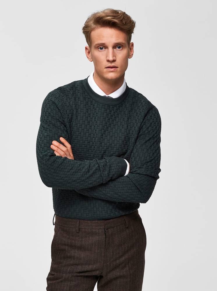 Selected Homme Tmavozelený sveter Selected Homme Kent