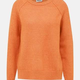 Oranžový sveter s rozparkom Noisy May Mariana