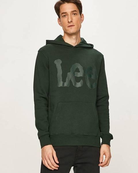 Zelená bunda s kapucňou Lee