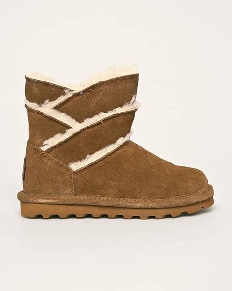 Hnedé zimná obuv Bearpaw