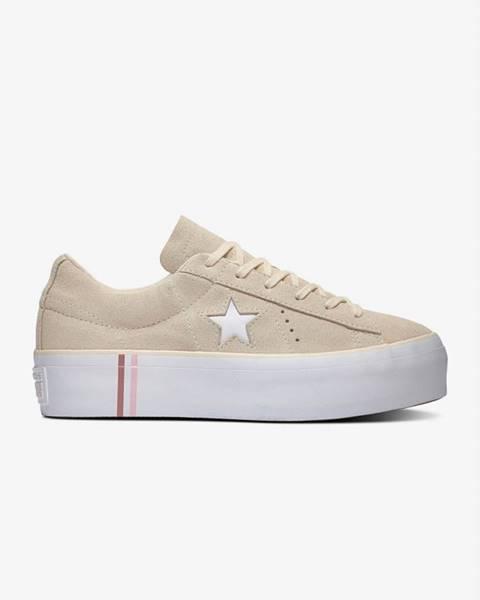 Béžové topánky Converse