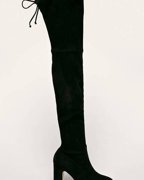 Čierne čižmy Stuart Weitzman
