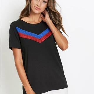 Tričko s ligotavými vzorom