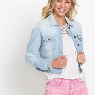 Džínsová bunda s čipkovanou časťou