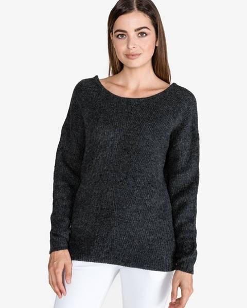 Sivý sveter s okrúhlym výstrihom Tom Tailor Denim