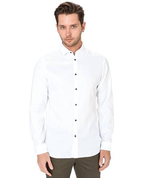 Biela košeľa Jack & Jones